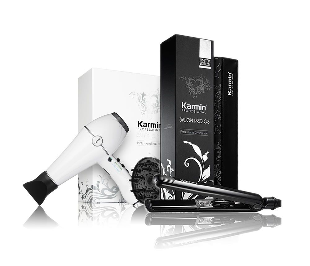 Karmin Salon Series Hair Dryer and G3 Straightener Combo